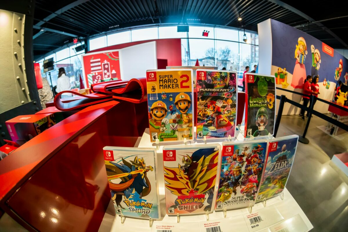 Nintendo Switch Spiele im Laden