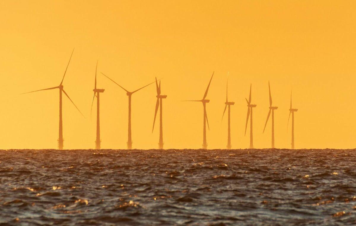 Offshore-Windpark vor der niederländischen Küste