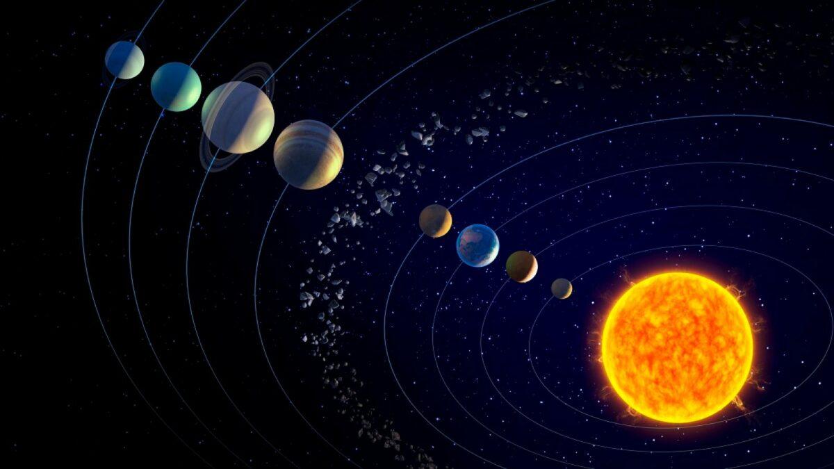 Planeten im Sonnensystem.
