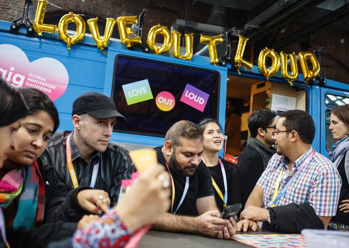 """Das Motto der re:publica 17: """"Love Out Loud"""". Es ging um Hass und Liebe im Netz."""