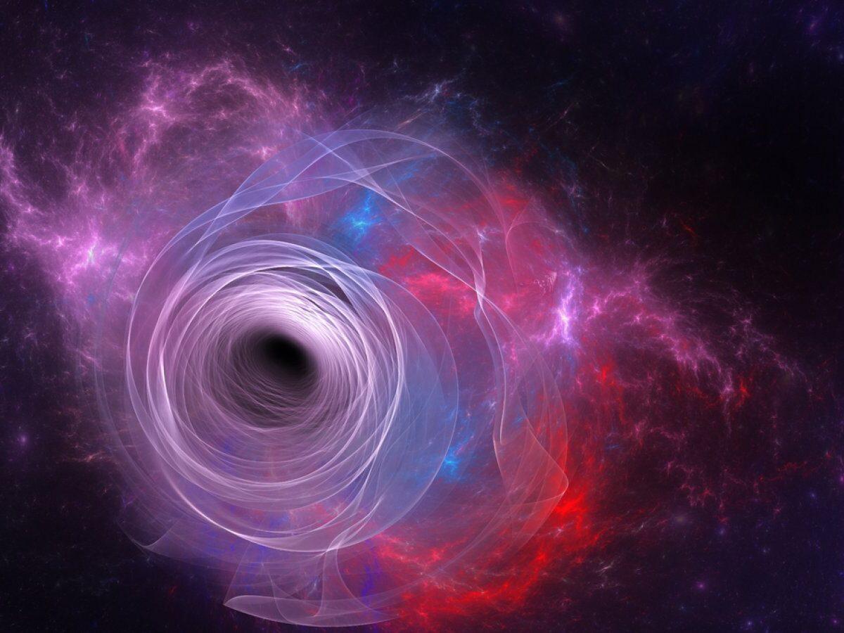 Illustration eines Schwarzes Lochs