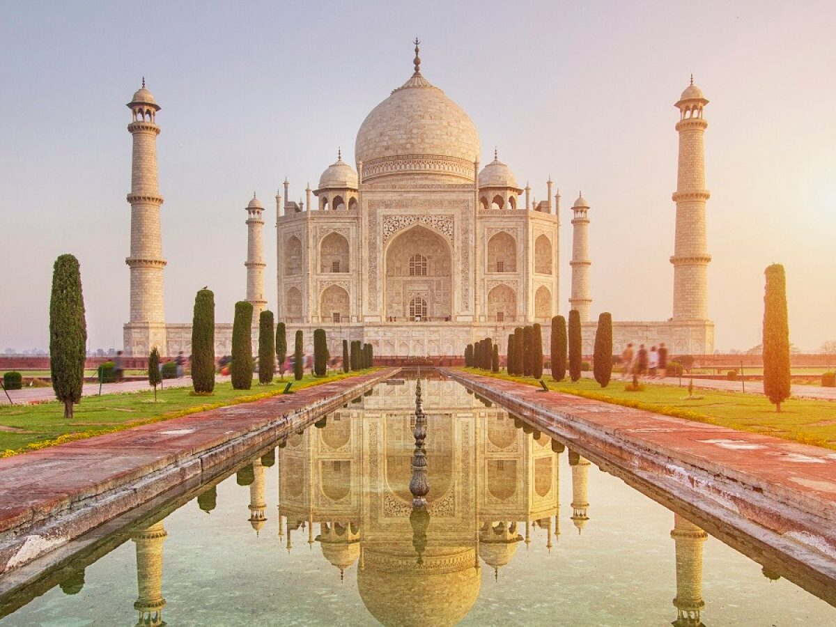Das Taj Mahal in Indien.