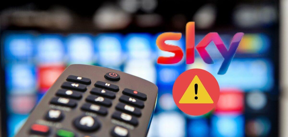 Sky-Fehlermeldung und ein Fernseher