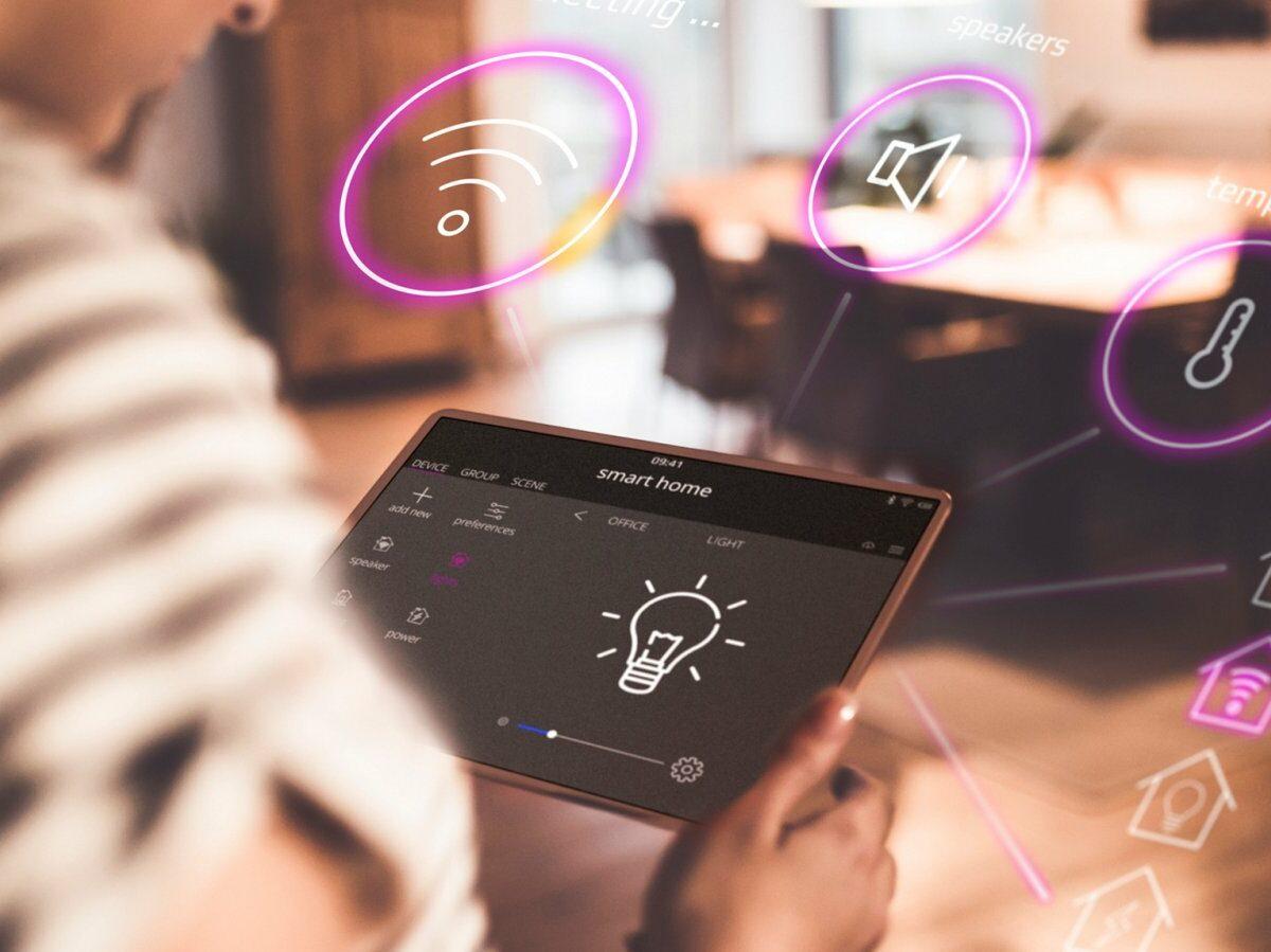 Tablet mit Smart-Home-Funktionen