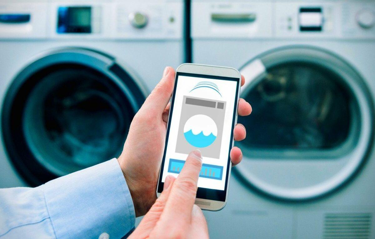 Smarte Waschmaschine mit App