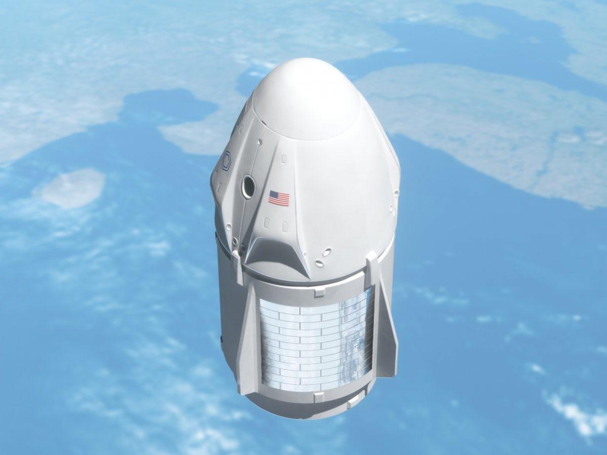 Das Dragon-Raumschiff von SpaceX startet ins All.
