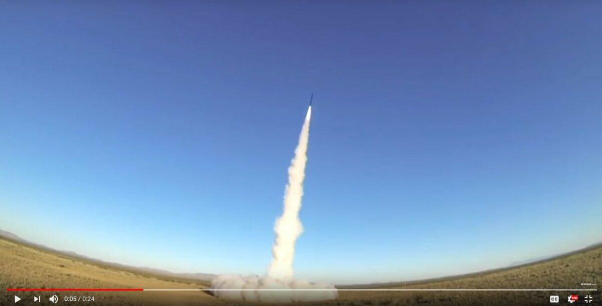 Die Rakete der Studenten hebt ab (Screenshot/YouTube).