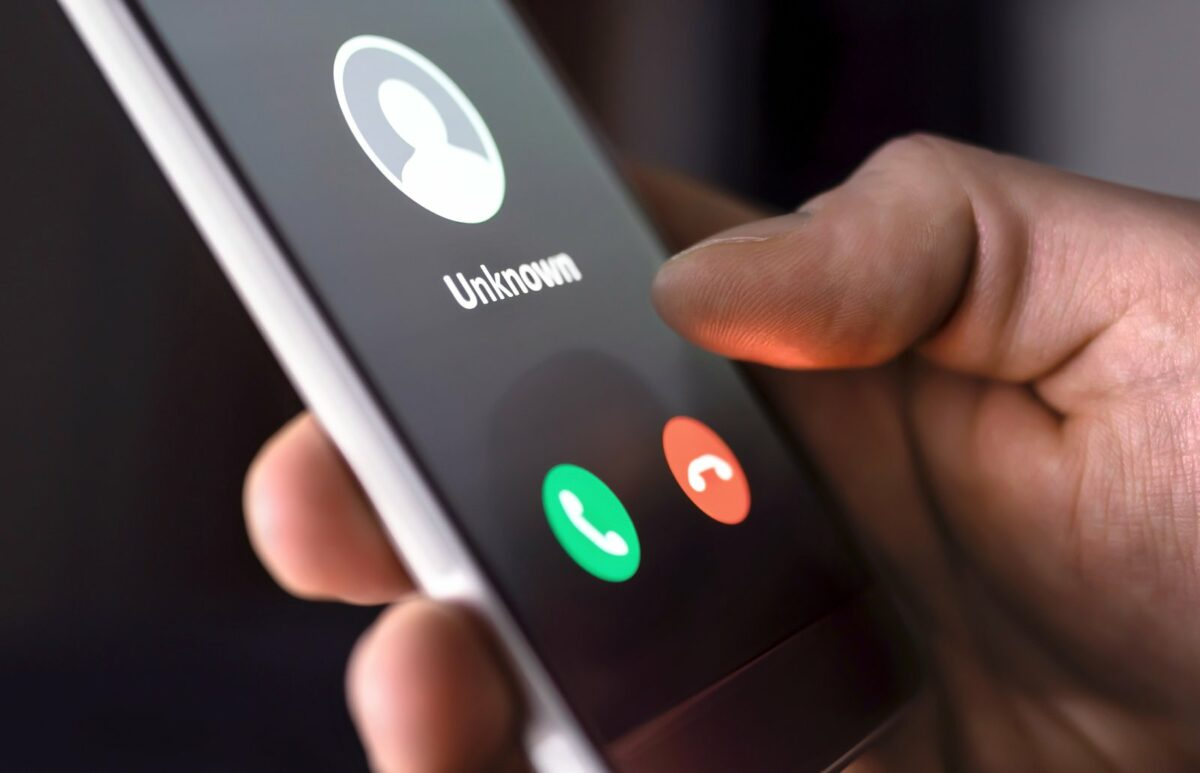 Handy mit unbekannter Nummer