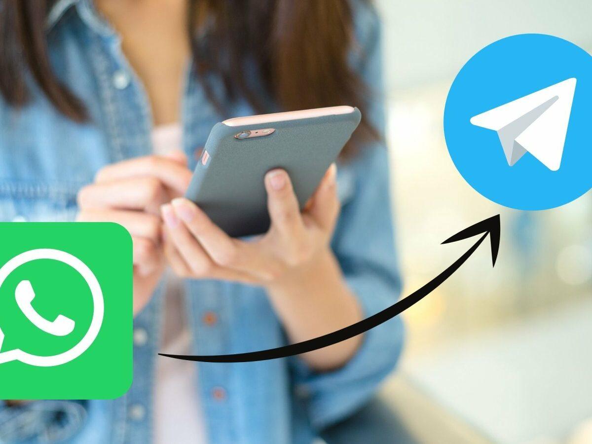 Telegram- und WhatsApp-Logo.