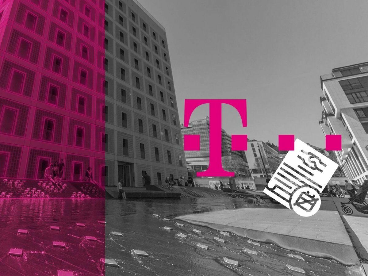 Telekom-Logo und eine Vertragskündigung