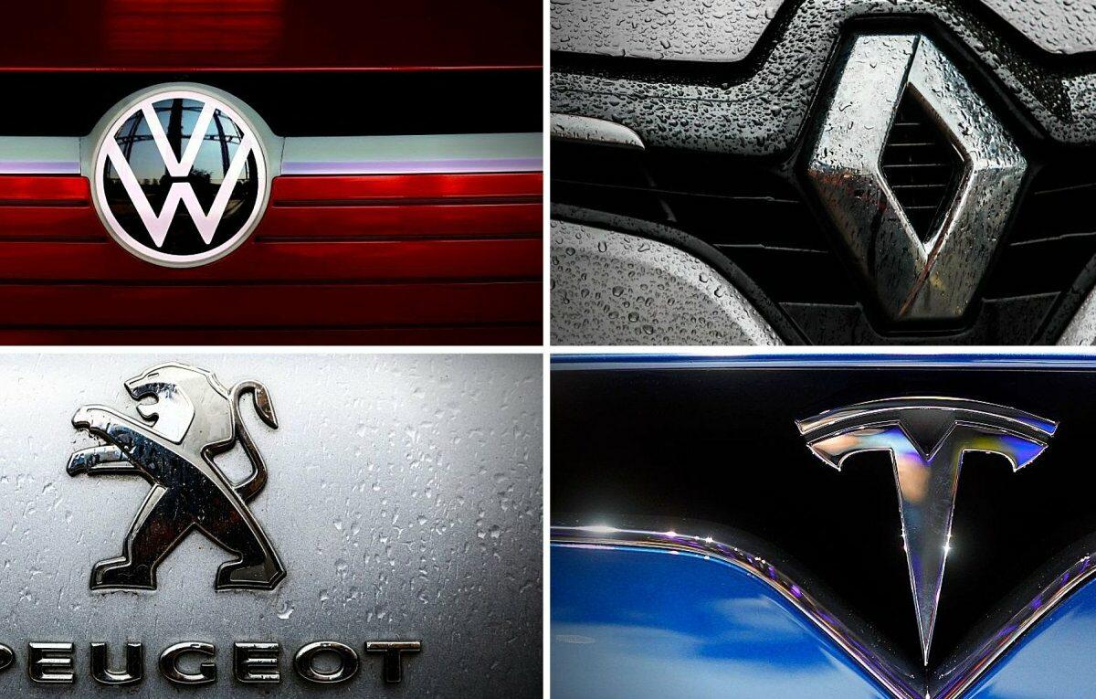 Logos unterschiedlicher Automobilmarken