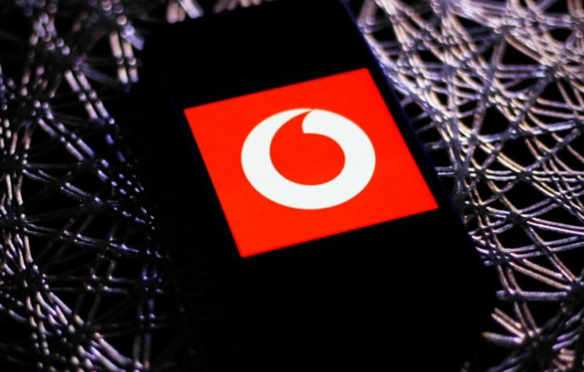 Vodafone-Logo auf einem Smartphone