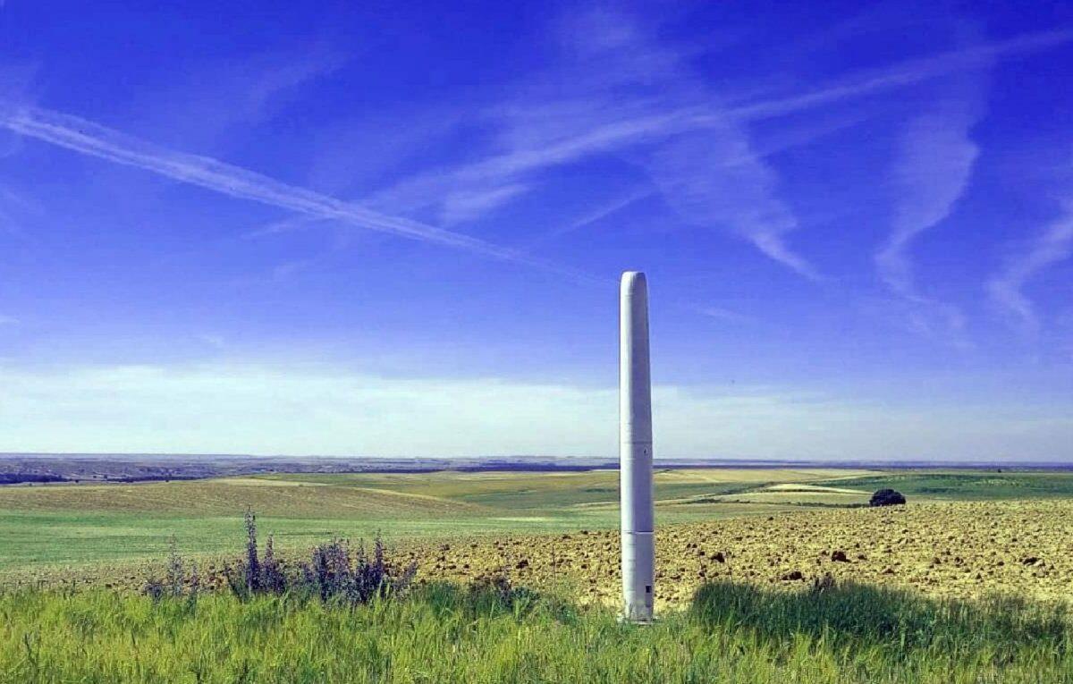 Futuristische Windkraftanlage von Vortex Bladeless