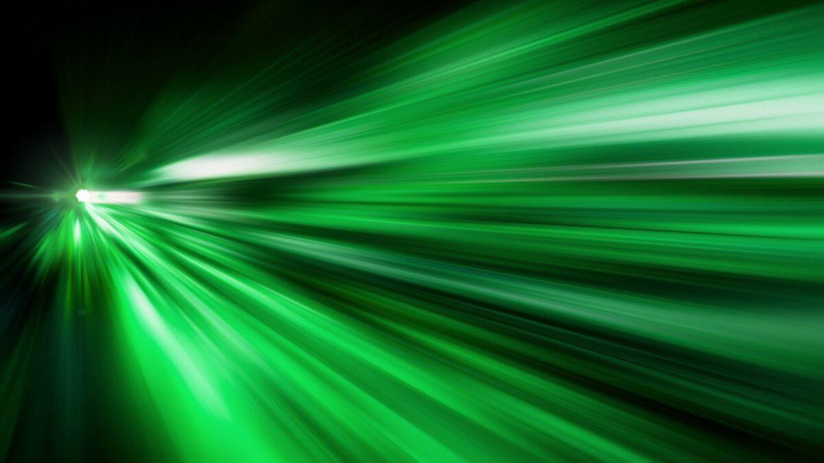 Grüne Illustration schneller Bewegung.