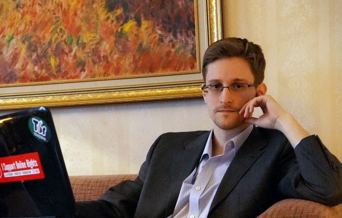 Edward Snowden bei einem Interview.