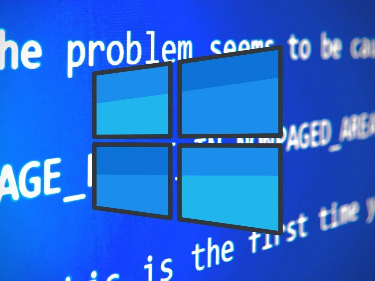 Windows Fehlermeldung mit Logo