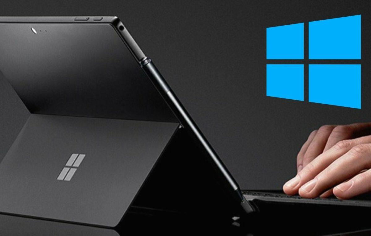 Microsoft Surface mit Logo