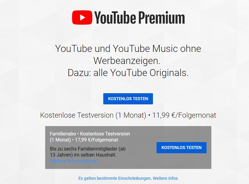 YouTube Premium bietet dir mit einem Gratismonat die Möglichkeit, Videos ganz einfach zu speichern.