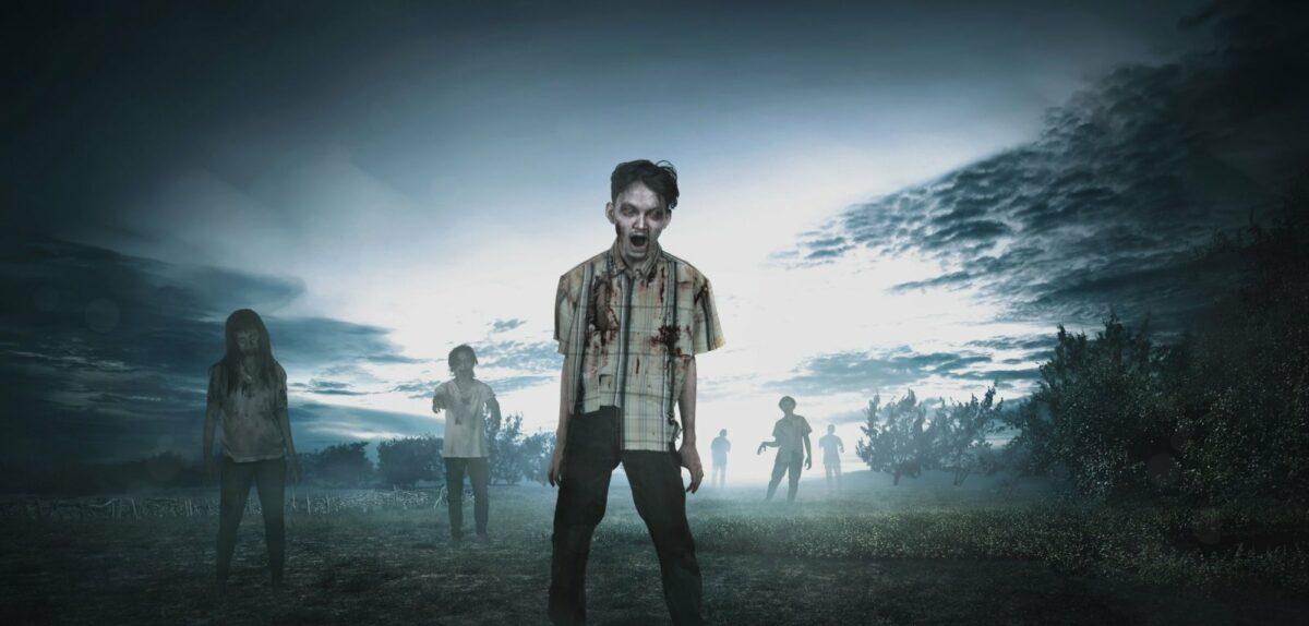 Zombies auf einer Wiese