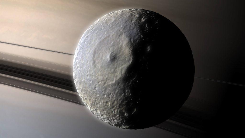 Mimas vor Saturn