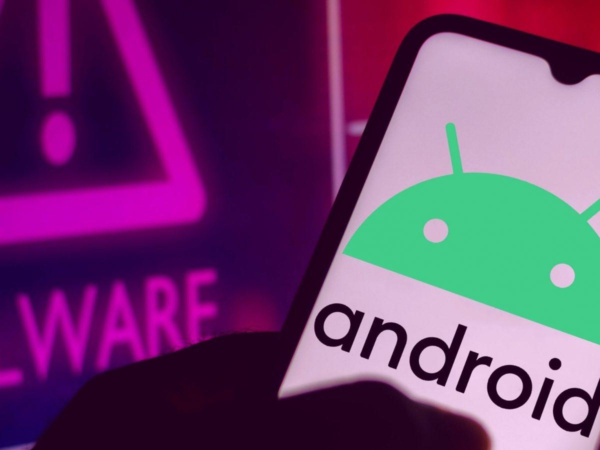 Android-Logo neben einer Malware-Warnung