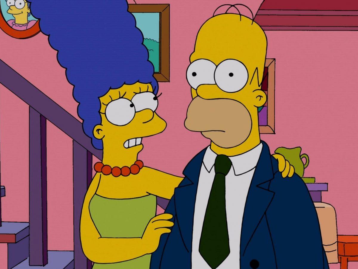 Marge und Homer von den Simpsons.