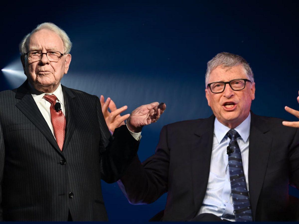 Warren Buffett (l.) und Bill Gates (r.)