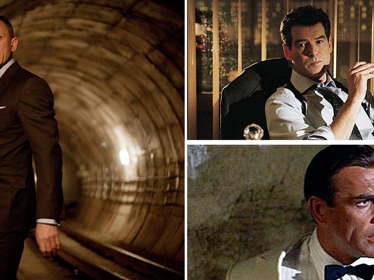 Daniel Craig, Pierce Brosnan und James Conery als Sean Bond.