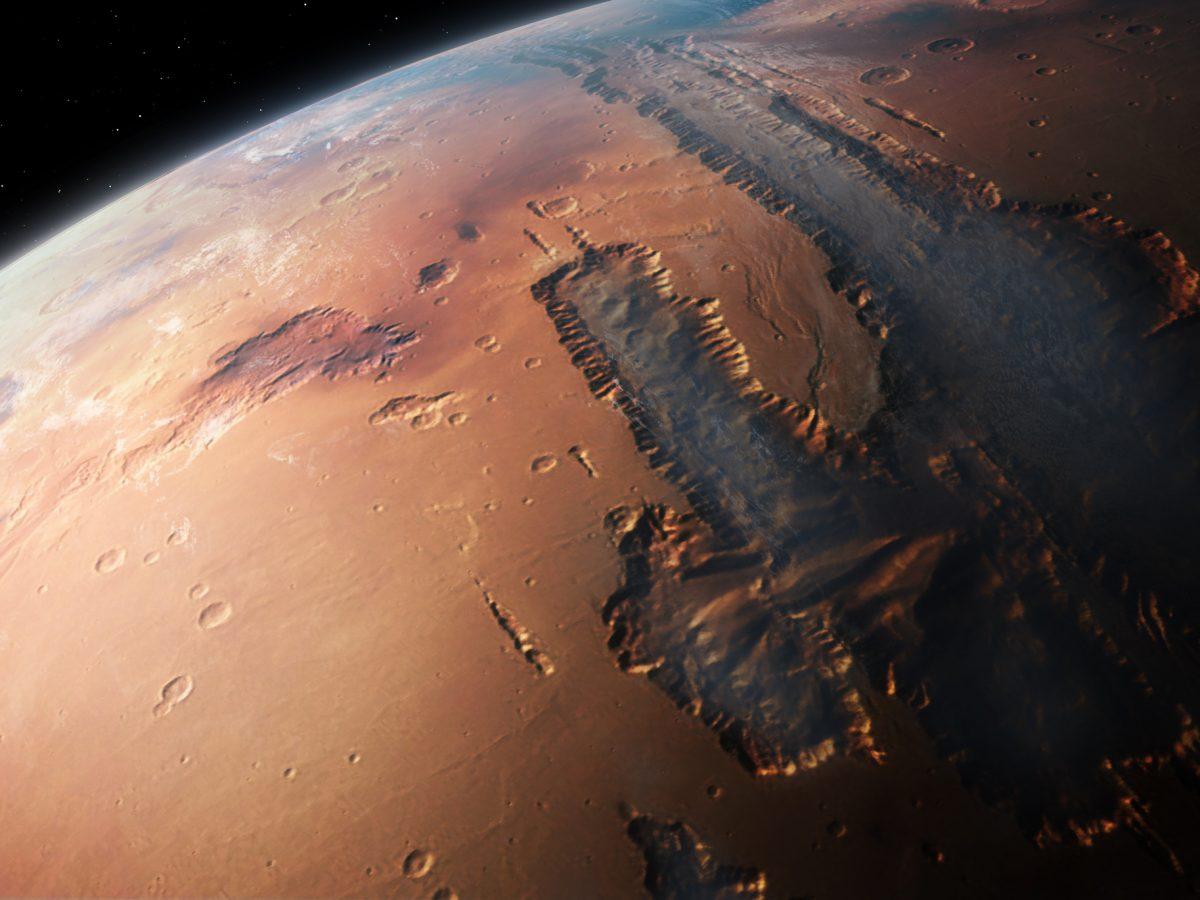 Oberfläche des Mars aus dem All