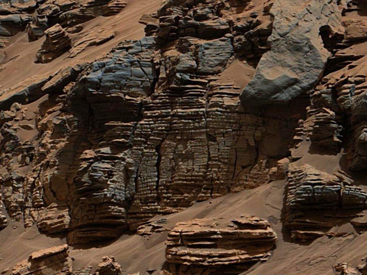 Sedimentäre Anzeichen für ein Marsseebett