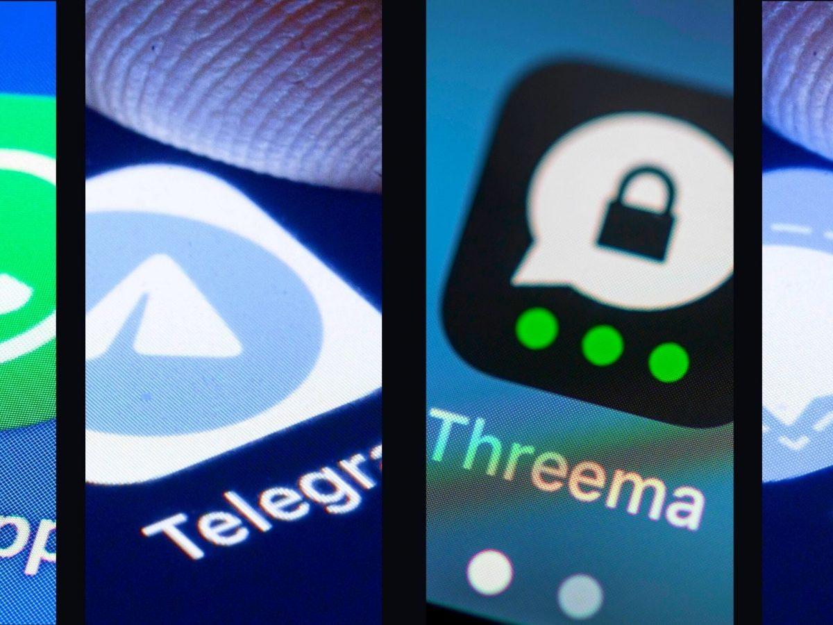 WhatsApp, Telegram, Threema und Signal.