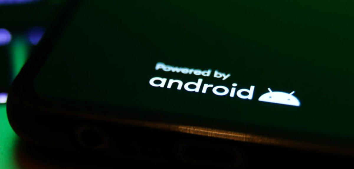 Android-Logo auf einem Smartphone
