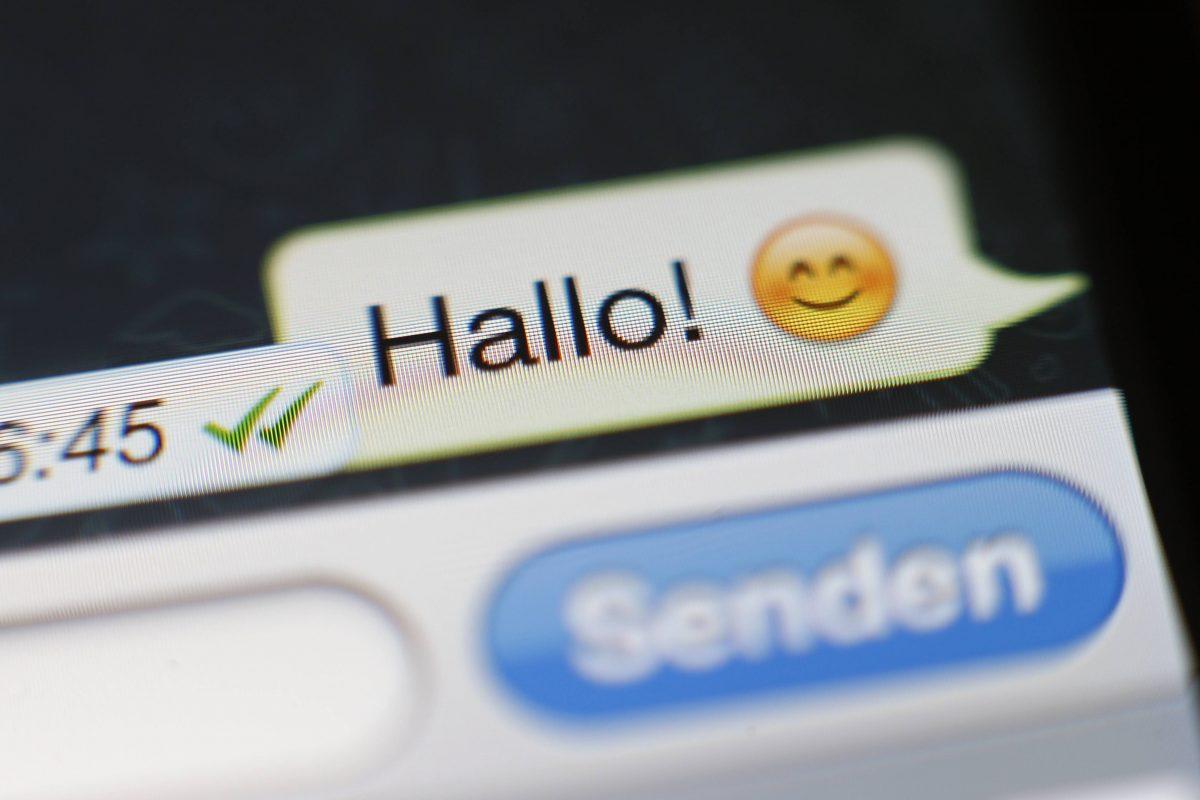 WhatsApp-ähnlicher Chat und Sendebutton